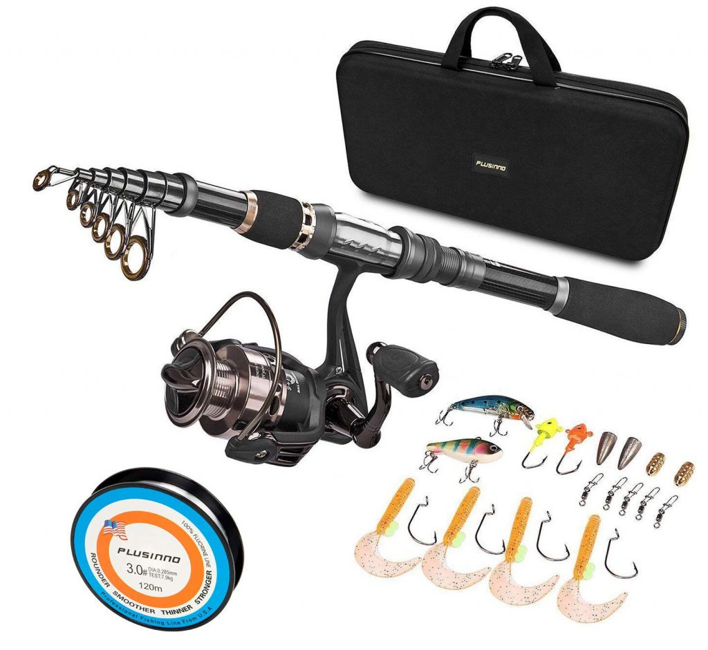 PLUSINNO Collapsible Rod and Reel Combo