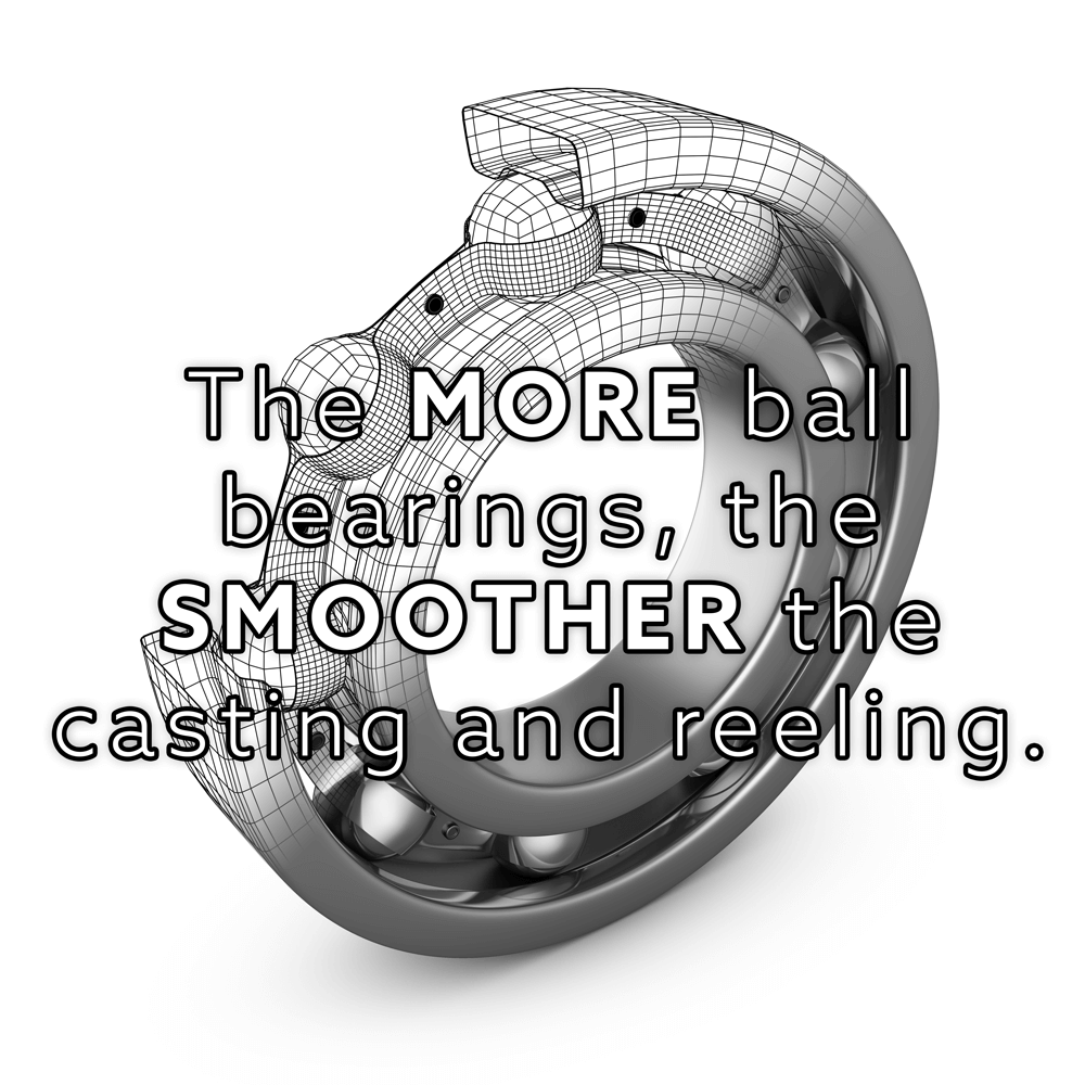 ball bearings and fishing reel smoothness
