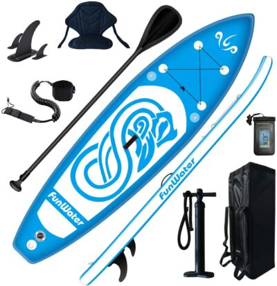 FunWater Inflatable 10'x31''x6'' Stand UP Paddle Board Ultra-Light (17lbs)