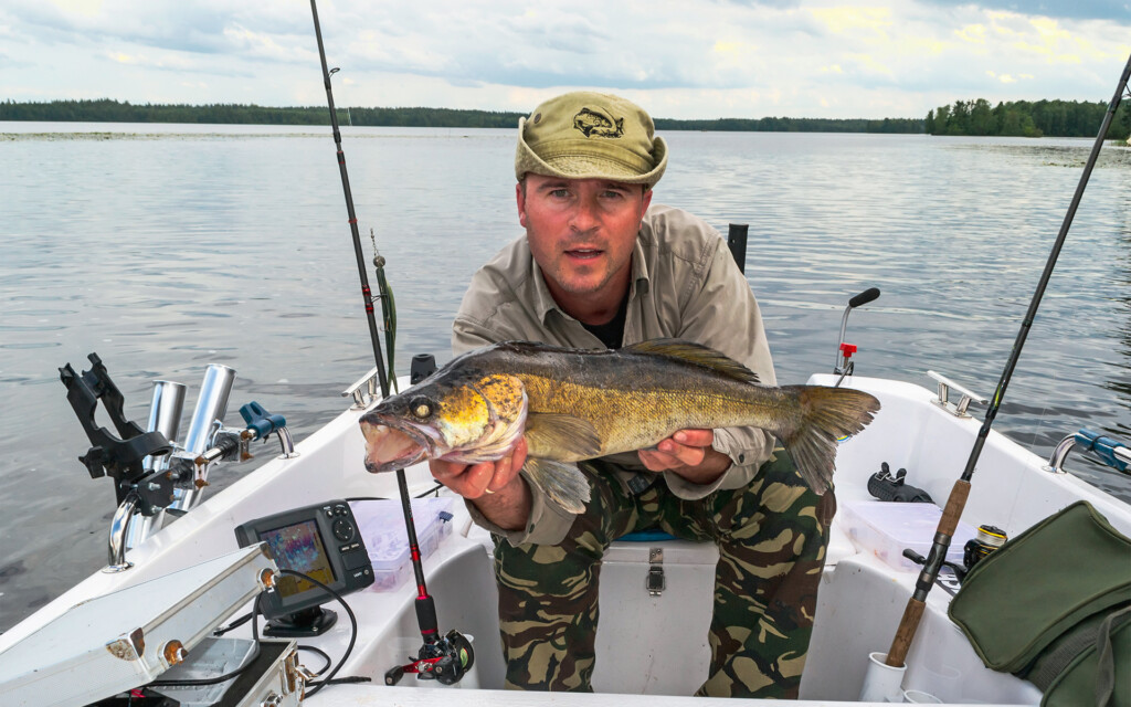 man showing how to catch walleye effectively