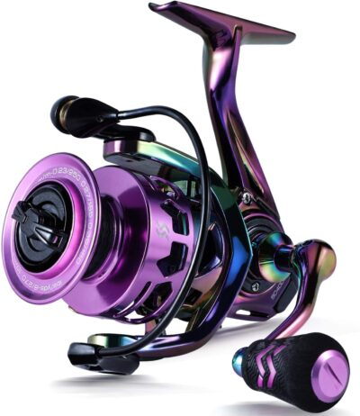 Sougayilang Fishing Reel, Colorful Ultralight Spinning Reels with Graphite Frame