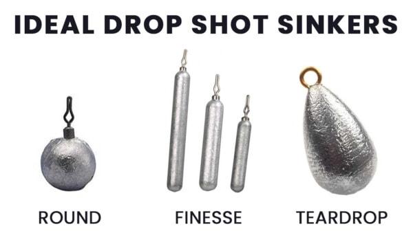 ideal sinker types for drop shot rigs
